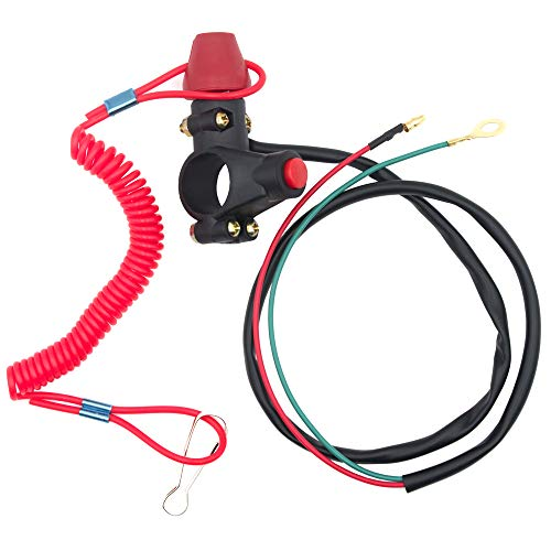 Royitay Kill Switch for 50cc 70cc 90cc 110cc 125cc 150cc 200cc 250cc ATV Dirt Bike Go Kart Pit Bike 4 Wheeler Quad Trail Bike Handlebar Mount Tether Engine