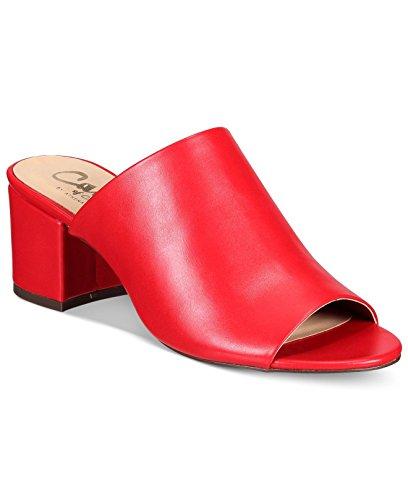 Mules Red Toe Womens Peep Callisto Mathis Leather qxXwfgqzP