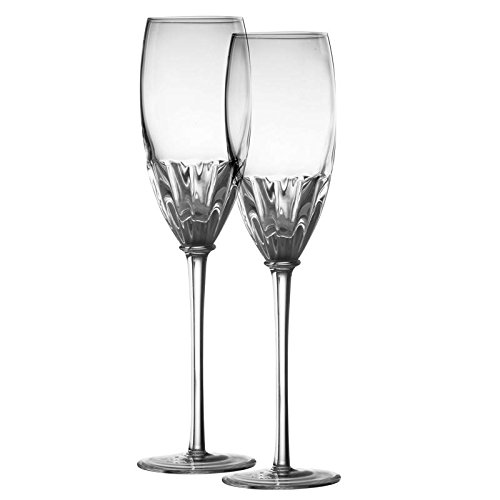 Danesco Mouth Blown 8.5 ounce Champagne Flutes - Clear - Set of 2