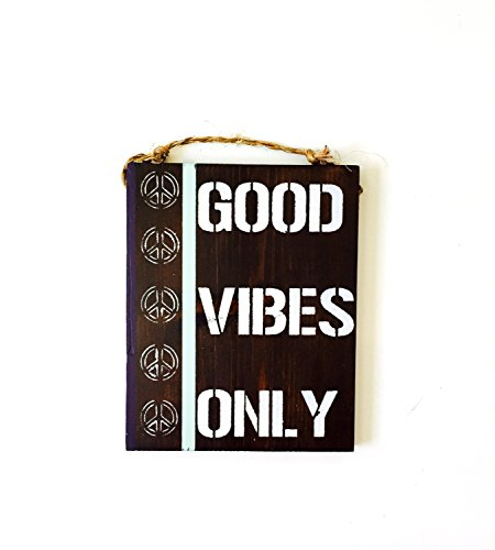 Ruskin352 good vibes only peace sign anthropologie for sale  Delivered anywhere in USA