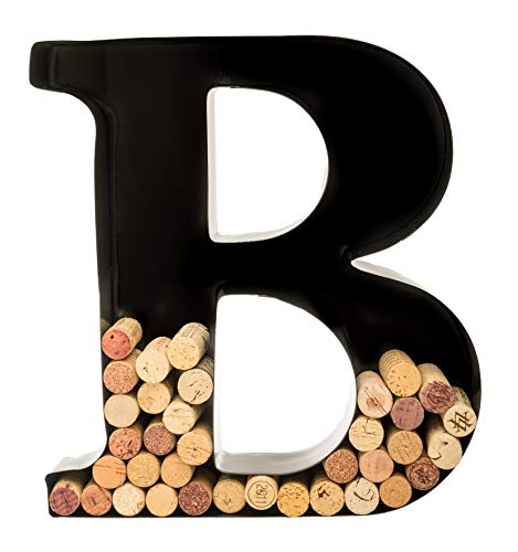 - Wine Cork Holder - Metal Monogram Letter (B)