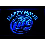 Bingirl Miller Lite Happy Hour Beer Bar Led Neon Light Sign Man Cave 605 B