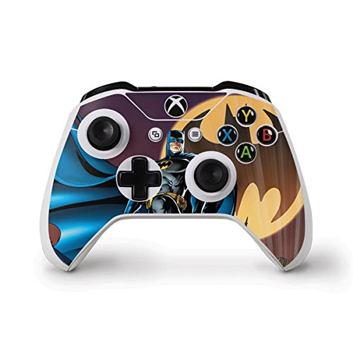 Skinit Batman in The Sky Xbox One Controller Skin - Officially Licensed Warner Bros Gaming Decal - Ultra Thin, Lightweight Vinyl Decal Protection ()