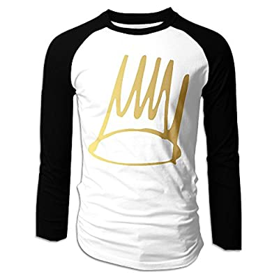 Men Born Sinner Halo J Cole Classic Long Sleeve Raglan T Shirts