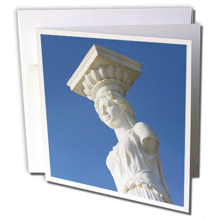 3dRose GREECE, Ionian Islands, KEFALONIA, Caryatid Statue - EU12 WBI0335 - Walter Bibikow - Greeting Cards, 6 x 6 inches, set of 12 (gc_81868_2)