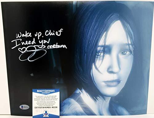 Jen Taylor autographed 11x14 Poster Photograph Microsoft XBox Halo Cortana Voice Actor Beckett