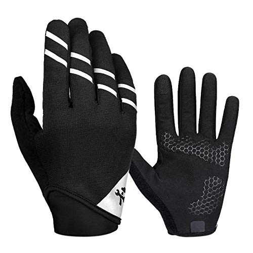 StoreDavid - Full Finger Touch Screen Cycling Gloves for MTB Bike Bicycle Gloves Gel Padded Outdoor Sport Fitness Gloves Bike Accessories