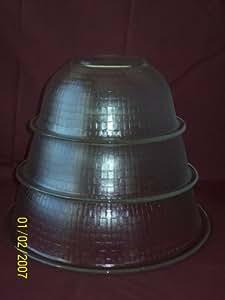 Pyrex Prepware Glass Mixing Batter Bowls Rimmed - 3 piece set