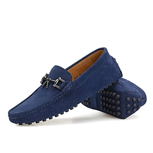 microfiber driving loafer shoes with horsebit ornament deep GxUxt