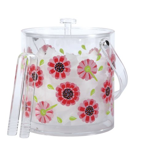 Lolita by CR Gibson Insulated Acrylic Ice Bucket, Ooops-A-Daisy (Around The World Beer Bucket)