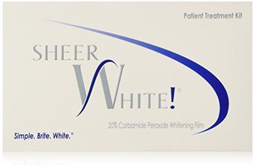 Sheer White! 20% Professional Teeth Whitening Strips Films Kit