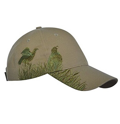 - KC Caps Men Hunting Hat Embroidered Baseball Cap Adjustable Back with Velcro Closure,Olive Quail
