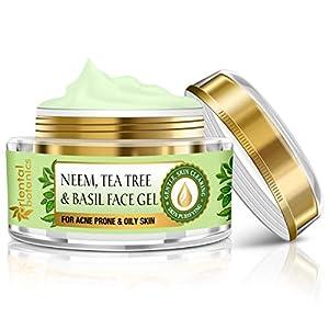 Oriental Botanics Neem, Tea Tree And Basil Anti Acne Night Face Night Gel Cream – For Oily Skin, 50g