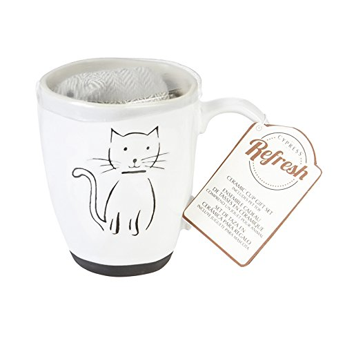 Cypress Home Ceramic Cup, Pet Cat, 16 Ounces