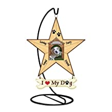 Millwork Engineering Doghouse Photo Frame- Mini Star w/stand, 6'' X 5'' Resin Star w/ banner, by The Craft Room, Model # 30046