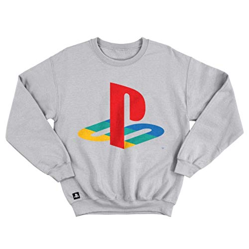 Moletom Playstation Classic Color, Banana Geek, Adulto Unissex, Cinza, G