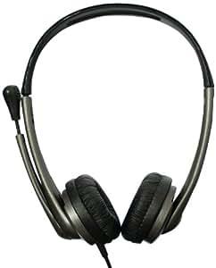 Bluestork BS-MC100 - Auriculares de diadema abiertos (con micrófono, 107 dB, control remoto integrado), negro