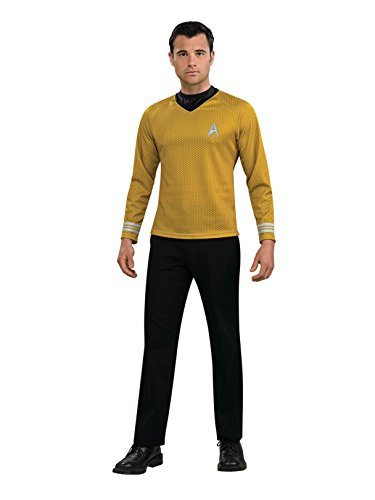 Rubie's Star Trek Gold Star Fleet Uniform Shirt, Gold, X-Large Costume ()