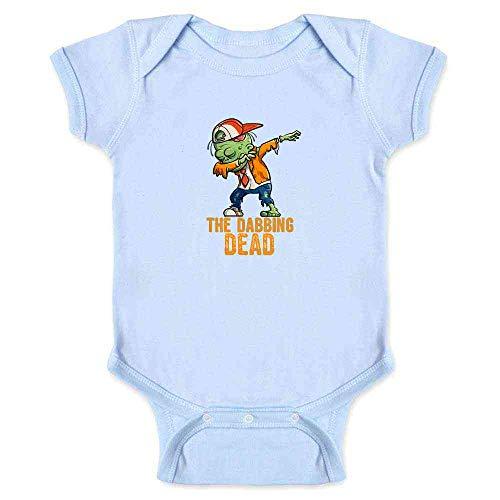 Pop Threads The Dabbing Dead Zombie Halloween Funny Light Blue 18M Infant Bodysuit