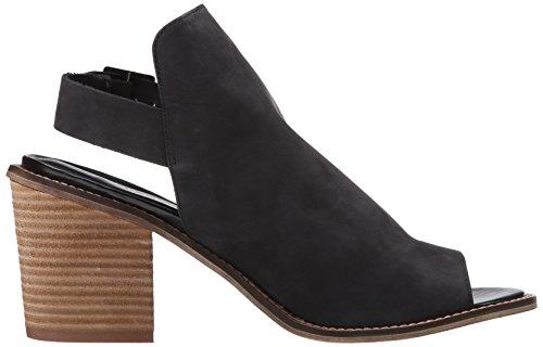 Black Women's Chinese Caleb Leather Heeled Laundry Sandal Black qYYaCH