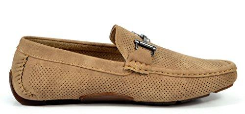 Bruno Marc Men's Ralph-01 Khaki Driving Loafers Moccasins Shoes – 7 M US