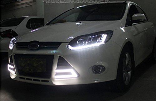 GOWE Car Styling Headlights for Ford Focus 2012-2014 LED Headlight for Focus Head Lamp LED Daytime Running Light LED DRL Color Temperature:4300k;Wattage:55w 4