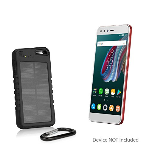 41nLc5I06wL Infinix Zero 5 Battery, BoxWave [Solar Rejuva PowerPack (5000mAh)] Solar Powered Backup Power Bank for Infinix Zero 5 - Jet Black.