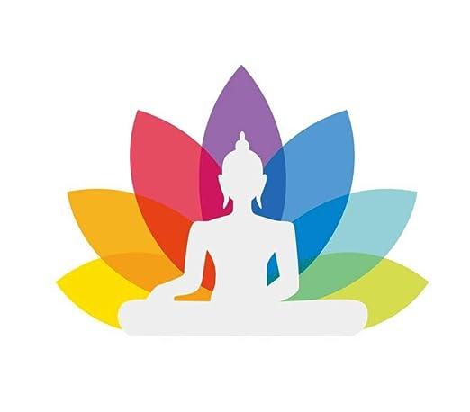 LAOHUQT Pegatinas De Pared Vinilo Lotus Yoga Pegatina Buda ...