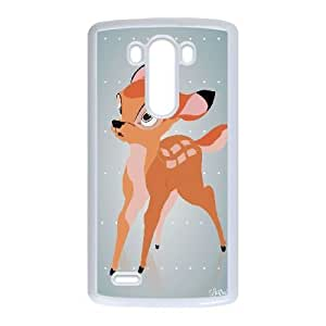 Hard Pattern Cases Hyxdg LG G3 Cell Phone Case White Bambi Protective Fits Cover