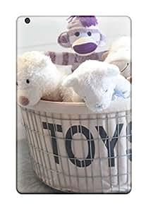 Kirsten Brett's Shop Hot New Basket Of Toys With Stuffed Animals 038 Purple Sock Monkey Tpu Cover Case For Ipad Mini 3