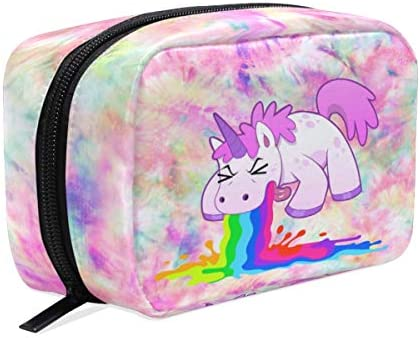 Divertido Estuche de Maquillaje con diseño de Unicornio y arcoíris, para Guardar artículos de tocador de Viaje, para Mujeres y niñas: Amazon.es: Equipaje