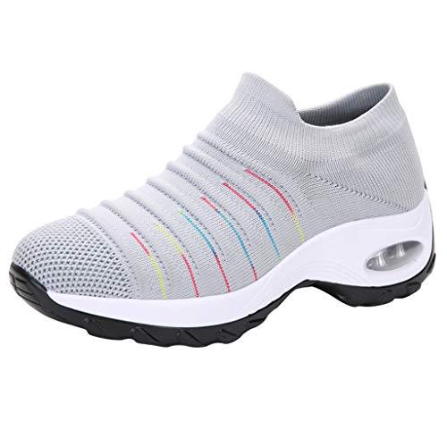 poundy shoes Fashion Women Mesh Casual Shoe Thick Bottom Rocking Shoe Student Working Sneaker