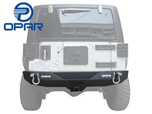 opar Textured Black Different Trail Rear Bumper w/2
