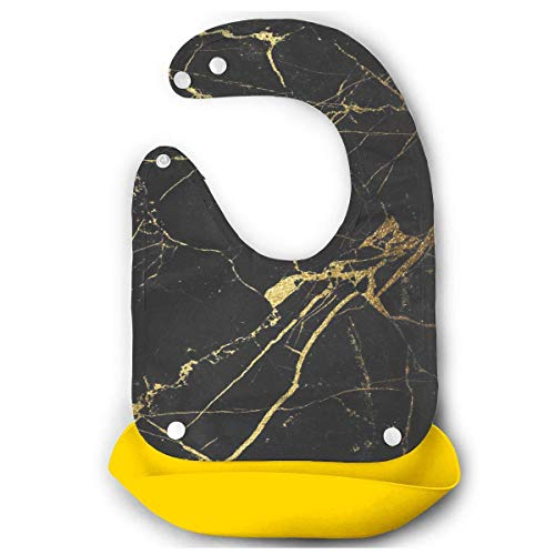 Gold and Black,Baby Comfortable Mouth Bib Saliva Dripping Towel Boy Girl Infant Towel Eating Accessory