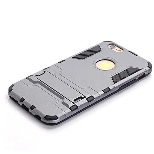 iPhone 6s Plus Case, LIYINGKEJI Protection anti-rayures anti-rayures Ultra mince Slim Fit Double épaisseur Armure lourde Hybride Hard PC + Housse de protection TPU Soft pour Apple iPhone 6s Plus - Gri