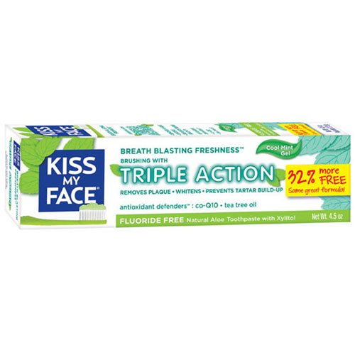- Kiss My Face Toothpaste Triple Action Cool Mint Gel 4.5 Ounce (133ml) (3 Pack)