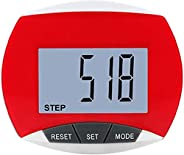 Simple Step Counter Walking Pedometer,Sport Pedometer Step Calorie Counter with LCD Display and Clip, Accurate