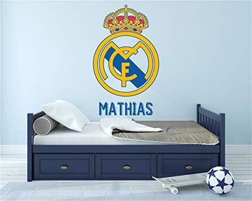 pegatina de pared 3d Real Madrid Cf Decor Stickers Sport Nombre ...