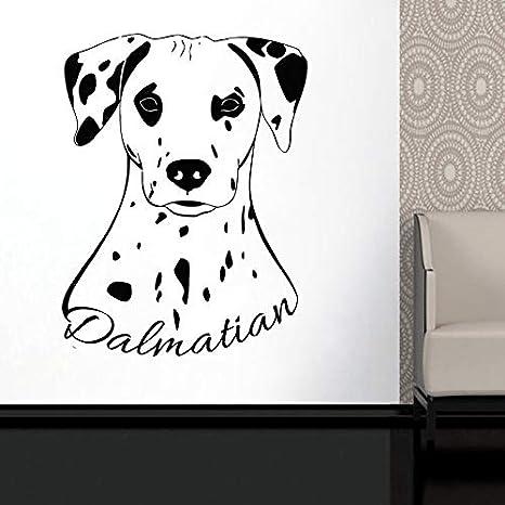 Animales dálmatas etiqueta de la pared perro lindo vinilo tatuajes ...