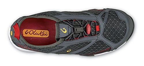 Olukai Eleu Trainer - Donna Dark Shadow / Deep Red