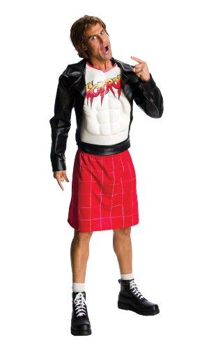WWE Adult Rowdy Roddy Piper Costume, Black/Red, (Roddy Piper Costume)