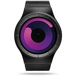 ZIIIRO Mercury Unisex Watches Black Purple