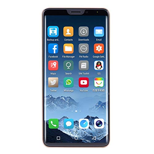 Unlocked Cell Phone, Besde 6.1 inch 18:9 LCD Full Screen 8.0MP Dual HD Camera Smart Phone Android 7.0 Face ID Fingerprint Unlock 2GB+32GB WiFi Bluetooth GPS GSM/WCDMA 3G Dual SIM Card Mobile Phone