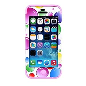 JOE Colorful Bubble Pattern Protective Silicone Case for iPhone 5 (Assorted Colors) , Blue