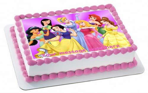 Adorno para tarta con diseño de princesas de Disney, con ...