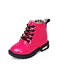 QZBAOSHU Baby boys girls ankle boots Waterproof snow boots for 2-12 years old kids