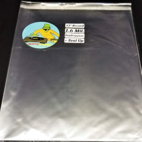 5 3XL + Seal Up Box Set Outer Sleeves Fits 8+ LP Vinyl Record Albums Poly Bags (+1 Free dj - Box Record Set