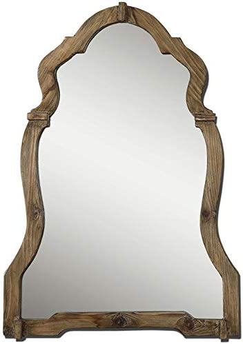 Uttermost Agustin Mirror in Light Walnut Stained Wood