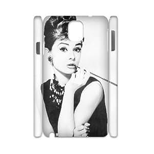 Audrey Hepburn Pattern DIY 3D Case for Samsung Galaxy Note 3 N9000, 3D Custom Audrey Hepburn Pattern Case