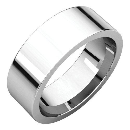 STU001- Palladium 7mm Flat Comfort Fit Wedding Band by STU001-